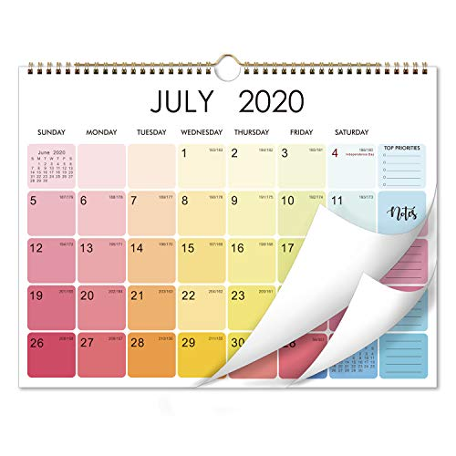 "Jul 2020 - Dec 2021 Calendar - Monthly Wall Calendar from Jul 2020-Dec 2021, 15"" x 11.5"", Flexible, Colorful Monthly Calendar Perfect for Office & Home"