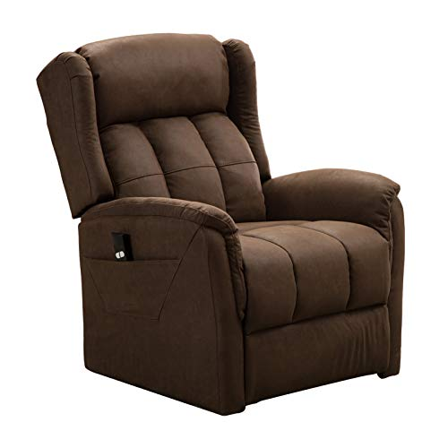 zsjhtc Electric Power Lift Recliner Chair Massage Sofa,Adjustable Comfortable Chair with Armrest Backrest Remote Control for Elderly Living Room Office Tan