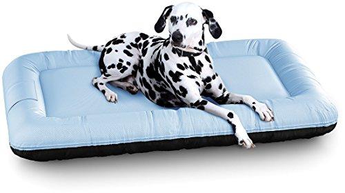 Knuffelwuff 13060 In und Outdoor Hundebett Hundekissen Hundesofa Hundekörbchen Hundekorb, Lucky Color Edition, Größe XL 100 x 73 cm, blau