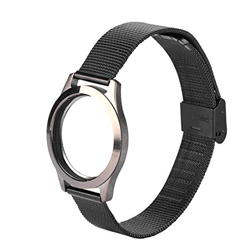 Shipenophy Correa de muñeca Suavidad Moderado Smart Reloj de pulsera ligero Sleep Fitness Monitor(negro)