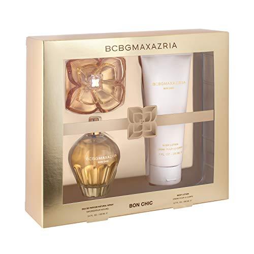 BCBGMAXAZRIA Bon Chic 3.4 Ounce Eau de Parfum Perfume Set for Women with 6.7 Ounce Body Lotion