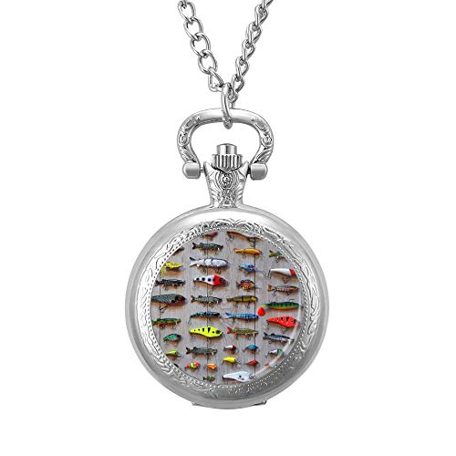 The Best Bait For Fishing Necklace Pocket Watch Chain Gift Pendant-Valentine's Day Love