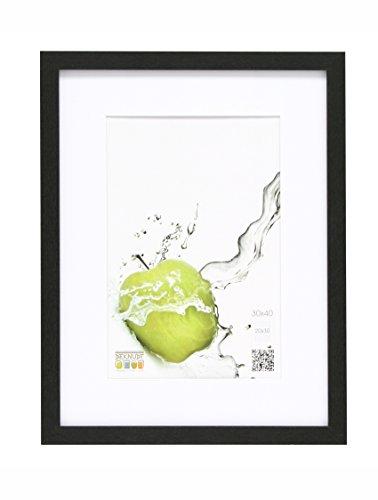 Deknudt fotolijst, hout, 40 x 60 cm, past overal 30 x 45 cm, zwart