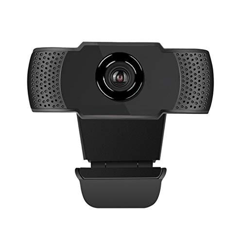 JTKLION Cámara web 1080P con micrófono de cancelación de ruido USB Full HD con clip giratorio para videollamadas, juegos, transmisión en directo y conferencias