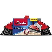 Vileda - Escoba de Goma para Interior y Exterior, Resistente, de Goma y Caucho, Adecuada para Pieles de Animales y cabellos, Color Rojo/Negro, 34 x 13,5 x 4 cm