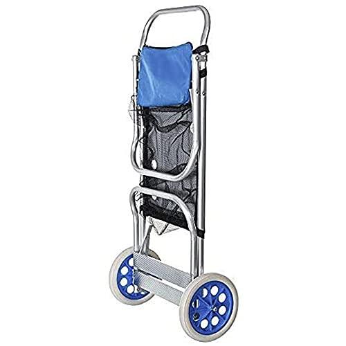 LA RUTA Carro Portasillas Playa Aluminio Carretillas de Carro Plegable (Carro 200095)