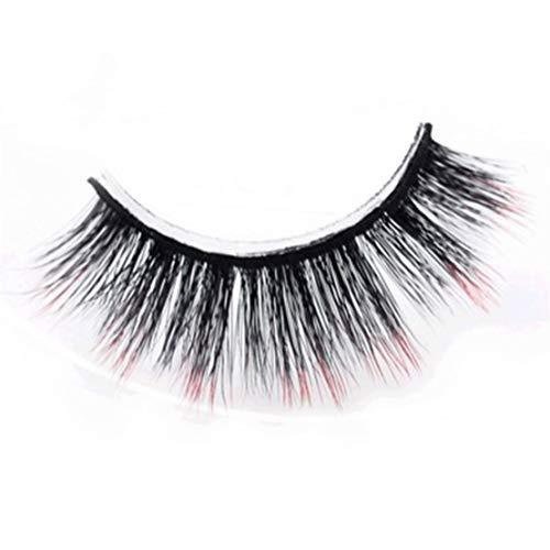 Kissherely Faux Cils colorés Gradient Color Faux Cils épais Long Natural Soft Réutilisables Faux Cils pour Le Maquillage
