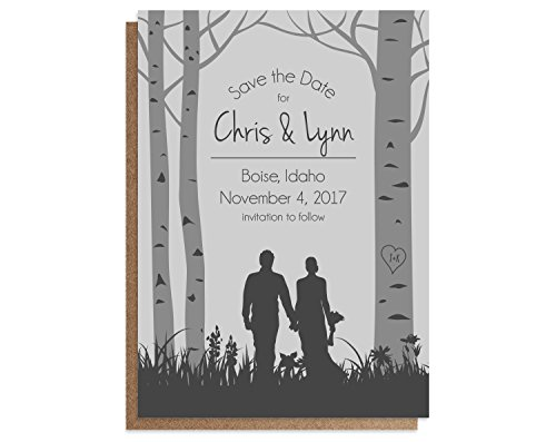 Woodland Wedding Save the Date Cards