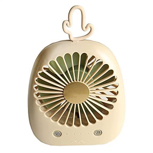 QZH Lindo Ventilador de Mano de piña Mini Ventilador Recargable Cactus Ventilador de Escritorio portátil Dormitorio de Estudiantes USB Mute (E)