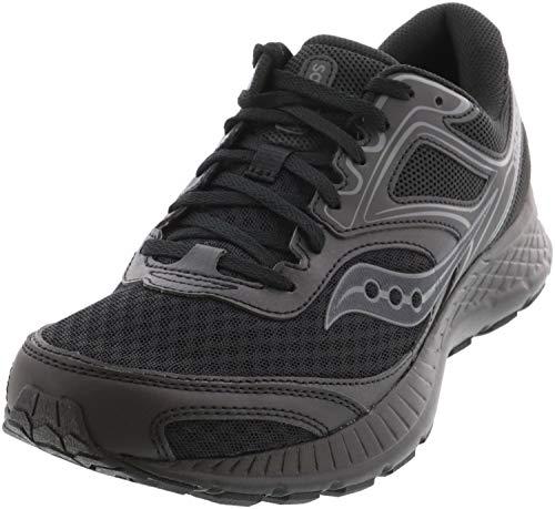 Saucony Men's VERSAFOAM Cohesion 12 Road Running Shoe, Black, 12 M US
