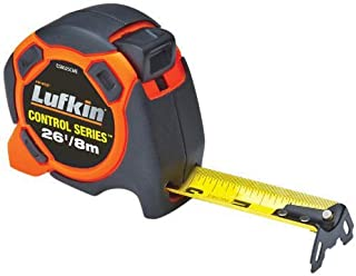 """Crescent Lufkin 1-3/16"""" x 8m/26' 800 Series Xtra-Wide SAE/Metric Yellow Clad Control Power Tape - CS8525CME"""