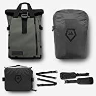 PRVKE Travel and DSLR Camera Backpack with Laptop/Tablet Sleeve and Rain Cover - Rugged Photography Bag - Photography Bundle (21 L, Wasatch Green)