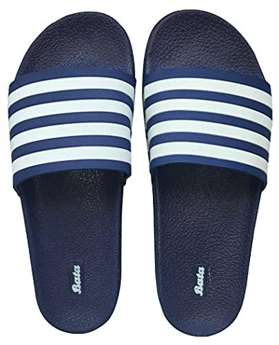 Bata Women Slides (BLUE, numeric_6)