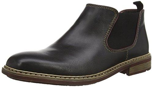 Rieker Herren B1282 Chelsea Boots, Schwarz (nero/bordeaux/00), 43