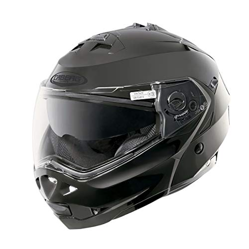Caberg DUKE II SMART DVS - Casco de moto con visera doble, color negro
