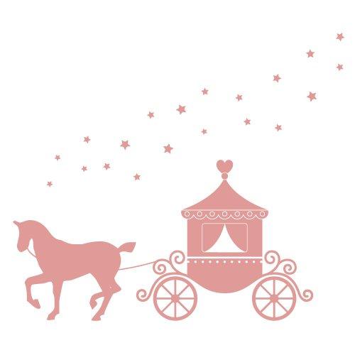 Cavallo e carrello adesivi murali di Stickerscape - Parte della collezione Fairy Princess (Confezione XL)