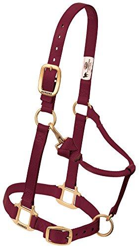 Weaver Leather Original Adjustable Nylon Horse Halter, Average Horse, Burgundy
