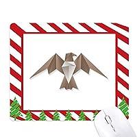 抽象的なワシの折り紙のパターン ゴムクリスマスキャンディマウスパッド