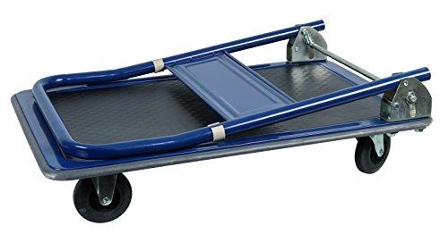 FERM Chariot à plateforme Max. 150Kg - Pliable - surface en caoutchouc - bords en caoutchouc