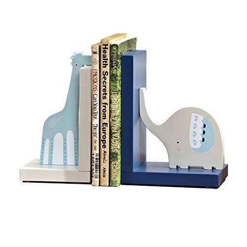 QIFFIY Sujetalibros Sujetalibros, Extremos de Libro, Extremo de Libro de Arte de decoración, Lindo sujetalibros de Madera Antideslizante con Forma de Jirafa de Dibujos Animados Fin del Libro