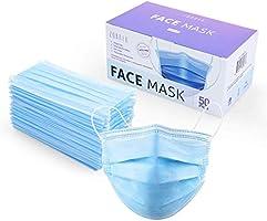 ZUBREX 使い捨て マスク 3層構造 フェイスマスク 弾性イヤーループ付き 50枚入り 普通サイズ 男女兼用