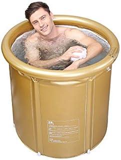 折りたたみ浴槽 ポータブルバスタブ 簡易浴槽 赤ちゃん用 家庭用 断熱蓋付
