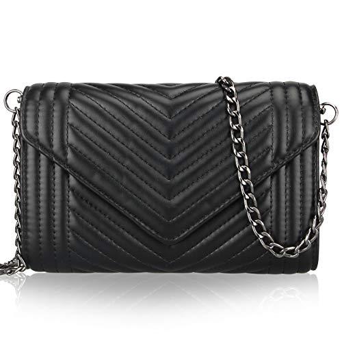 Small Women Leather Crossbody Bag for Iphone Purse Wallet Black Designer Shoulder Bag Handbag Chain Quilted Cross Body Bag