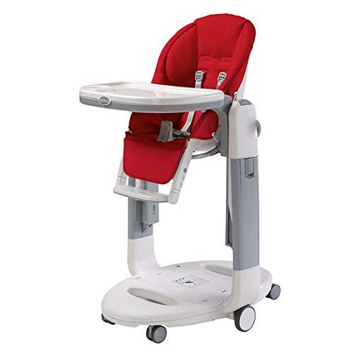 YUYAXPB Einstellbar Mit Swing-Funktion Hochstuhl Baby, Verstellbar und Klappbar Verstellbare Rückenlehne einfache Reinigung Komfort Polster Baby Säugling, Red