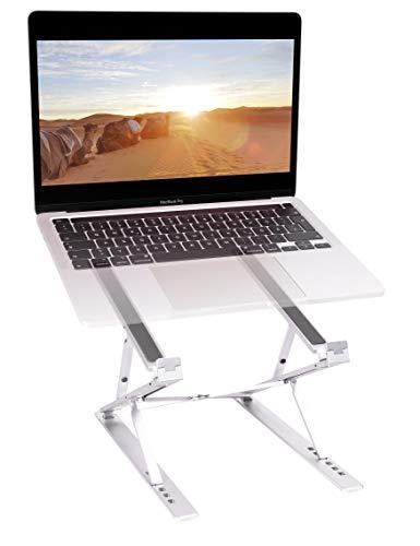 Alphares Laptop Stander hohenverstellbar und faltbar Tablet und Handy Halterung multifunktionale Halterung aus Aluminium in Silber Flexible Hohe einstellbar perfekt fur das Homeoffice