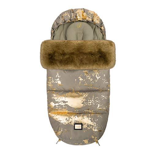 Bjällra Of Sweden 8069905 - Saco para pies (1200 g), color caqui y dorado