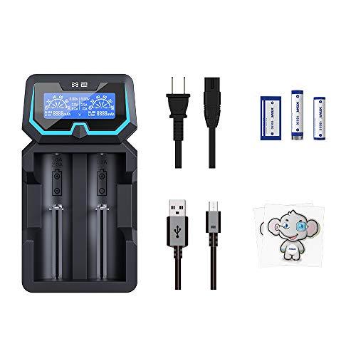 XTAR New X2 akku ladegerät geschütztes 20700 21700 batterieladegerät LCD-Bildschirm 2A akku schnellladegerät AC DC Hafen 2-Fach 18650 Ladegerät mit Wandladegerät f 3.6V 3.7V 14500 16340 1.2V AAA C D