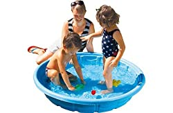 Capacity 93 litres. Can be used as a sand pit. Size L20, D117cm. Weight 1280g. For ages 3 years and over.