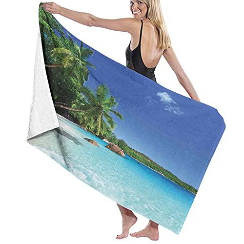 Toalla de baño de Calidad súper Suave, Estampado Island Sunny Horizon of Prislin, Tacto Natural, Toalla de baño súper Absorbente