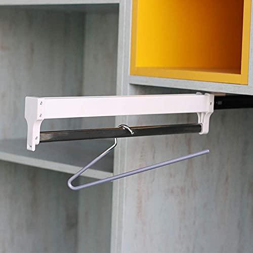 LAMZH Armario de la Percha de Arrastre Organizador Rack de aleación de Aluminio Tamaño de la suspensión Deslizante 35 cm 40 cm 45 cm 50cm Top Monte Negro Blanco 1pcs (Color : Wite, Size : 50cm)