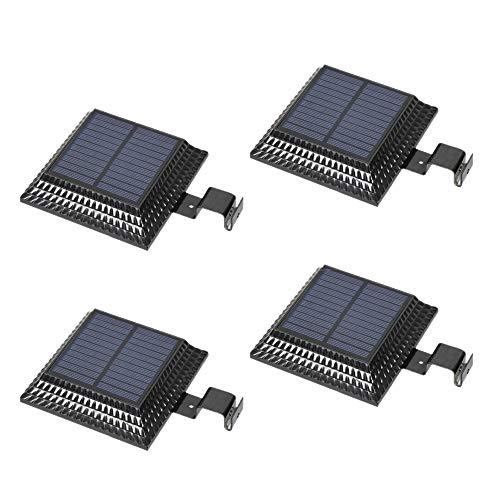 Haudang - Lámpara solar de 12 luces LED para exterior de jardín, valla de seguridad, sensor de luz de césped, iluminación al aire libre, lámparas de pared