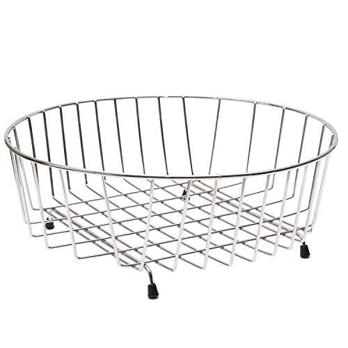 decorwelt | Abtropfgestell Rund 34 cm Verchromten Stahl für Obst Silber Teller Tassen Geschirrabtropfgestell Klein Geschirrabtropfer Geschirrtrockner Küche