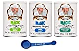 Chef Paul Magic Seasoning Variety, Poultry, Meat, and Vegetable, 24 ounces, 1 of Each with Spice of Life 4 in 1 Measuring Spoon