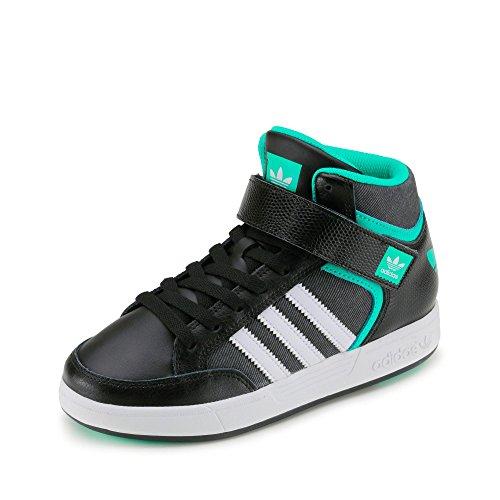adidas Varial Mid J, Jungen Skaterschuhe, schwarz - Black (Negbas/Ftwbla/Menimp) - Größe: 30