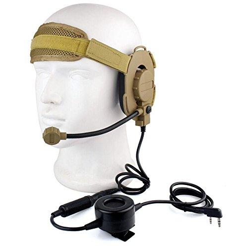ATAIRSOFT Z Taktisch Bowman Elite II Headset Wasserdichtes PTT Für Kenwood 2Pin Funk (DE)