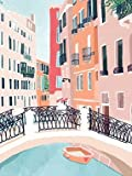 5D DIY Diamond Painting Street Rhinestone Picture Diamond Embroidery City Landscape Mosaic Cartoon A9 45x60cm
