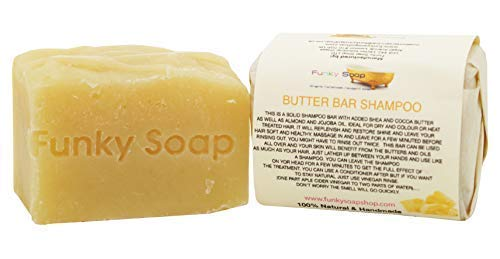 Funky Soap Butter bar Shampoo 100% Natürlich Handgemacht, 1 bar Of 120g