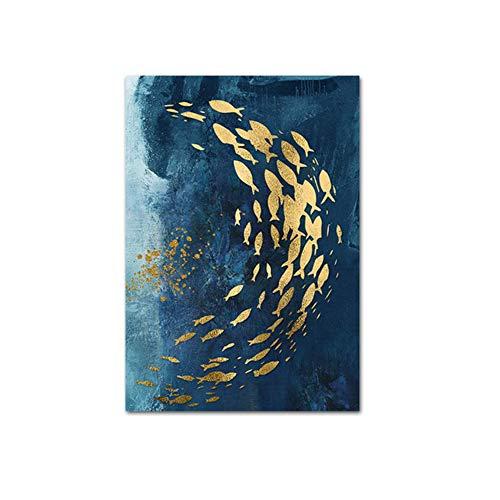 Pinturas sobre lienzo Arte de la pared Pez dorado Cuadro abstracto de la pared Impresión moderna del arte de la lona Imágenes Arte...