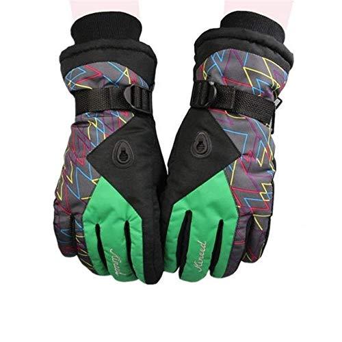 SGYCB Gants d'équitation en Plein air Chaud l'hiver Ski Gants Moto Respirant Talson équitation Sports de Plein air, Vert, Vert (Color : Green)