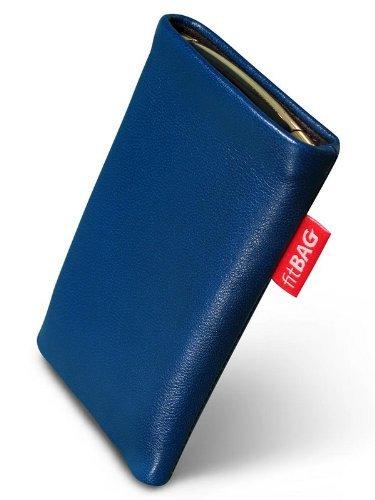 fitBAG Beat Royalblau Handytasche Tasche aus Echtleder Nappa mit Microfaserinnenfutter für ASUS M930