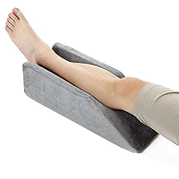 Leg Elevation Pillow Wedge After Knee Surgery Foot Elevation Leg Rest Elevating Pillow Wedge for Legs Elevated Knee Support Pillows Lift Elevator Leg Ramp Foam Wedge Sleeping Bolster Cushion