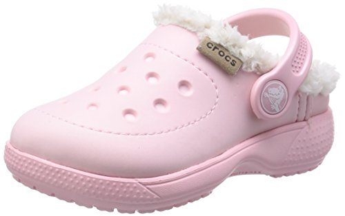crocs Colorlite Lined Clog Kids Unisex-Kinder Clogs & Pantoletten, Pink (Pearl Pink/Oatmeal), 23/24 EU