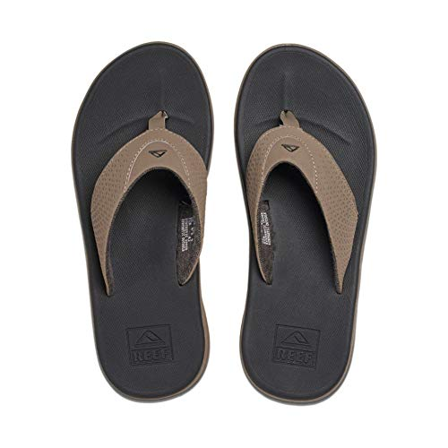 Reef Men's Sandals Rover | Water-Friendly Men's Sandal With Maximum Durability and Comfort | Waterproof, Tan/Black, 7