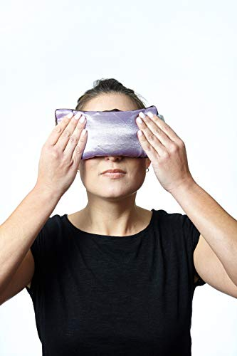 DreamTime Spa Comforts Eye Pillow with Lavender Aromatherapy, Natural Herbal Stress Relief Mask, Purple and Brown, Pack of 1