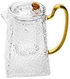 Tetera La jarra de vidrio jarra con tapa té Hielo jarra jarra de agua for el agua caliente y fría jarra de agua for el vino de café de leche y jugo de bebidas jarra Hervidor de agua ( Size : 1000ml )