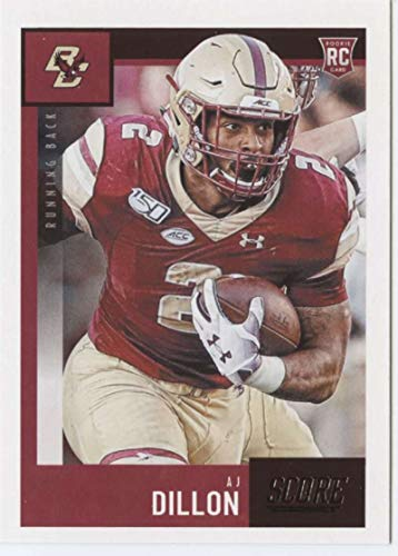 2020 Score #371 AJ Dillon Boston College Eagles NFL Football Card (RC - Rookie Card) NM-MT